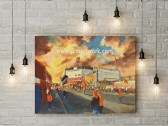 tannadice  going to the match canvas a2 size